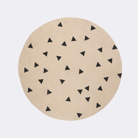 modern round rugs round jute rug by ferm living PYGETFV