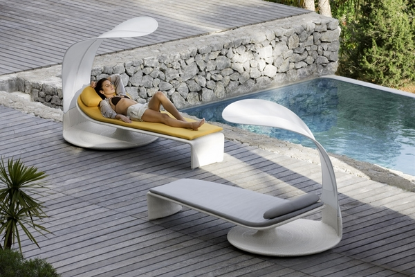 modern sun loungers - exclusive outdoor furniture design ideas | deavita PKHCNHS