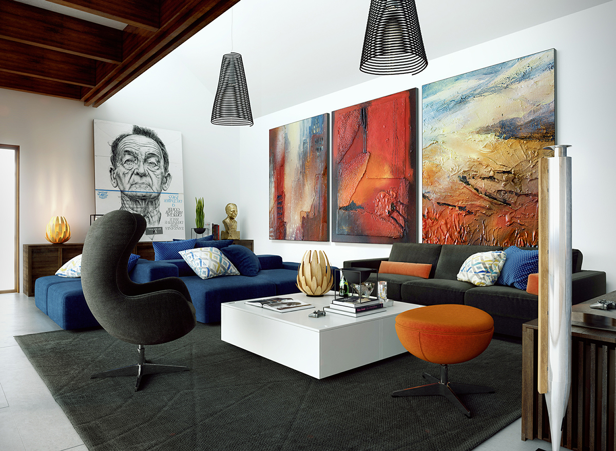 modern wall decor ideas dazzling living room art ideas 0 with eclectic artwork ZRIHKOF