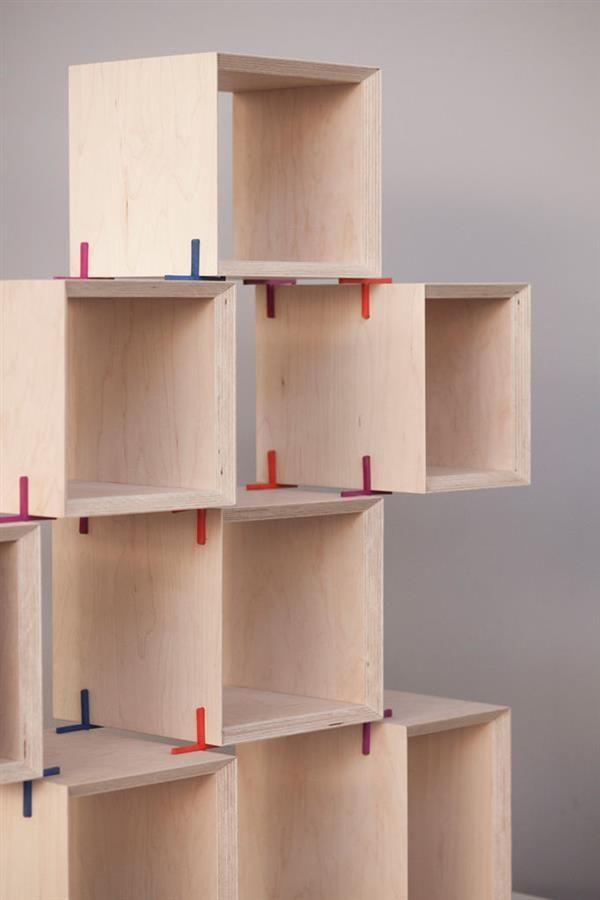 modular furniture 3ders.org - the + shelf 3d printed joints let you design RBBROMO