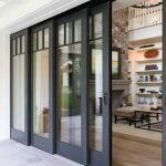 Natural outdoor entrance with a beautiful touch of patio doors