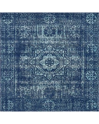 navy blue rug bungalow rose noan navy blue area rug bngl6109 rug size: square UTHJMQF