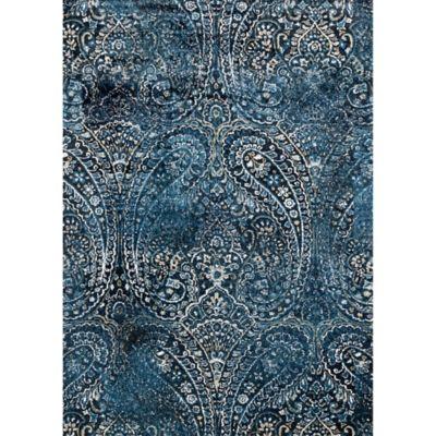 navy blue rug loloi rugs torrance paisley 6-foot 7-inch x 9-foot 2- VGRWUXM