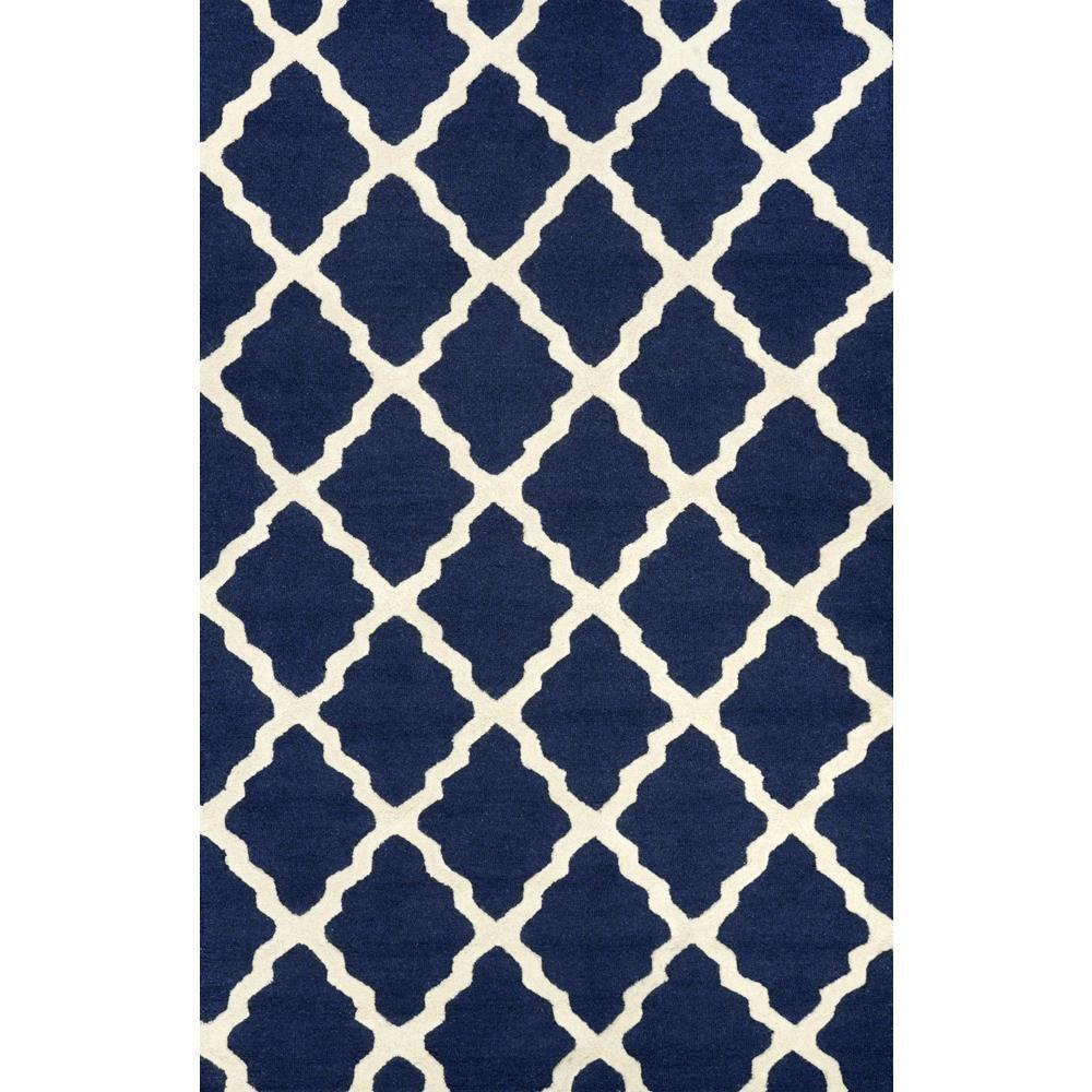 navy blue rug nuloom trellis navy blue 12 ft. x 15 ft. area rug ERJZKTJ