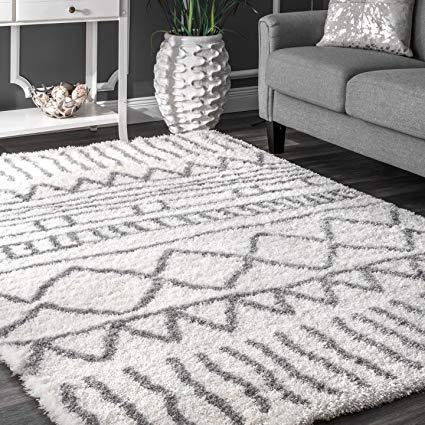 nuloom soft and plush geometric drawings shag area rugs, 8u0027 x EYKYPKW