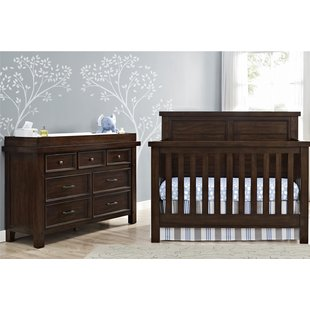nursery furniture sets timber lake 5-in-1 convertible 2 piece crib set EGZUWFN