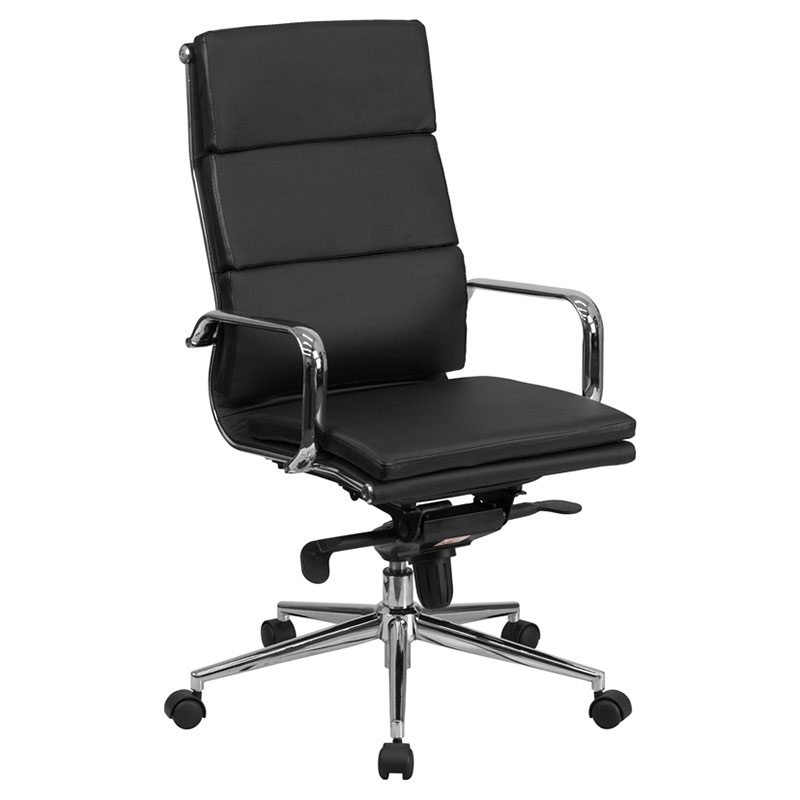 office chairs chelsea modern high back office chair in black GXIHLLI