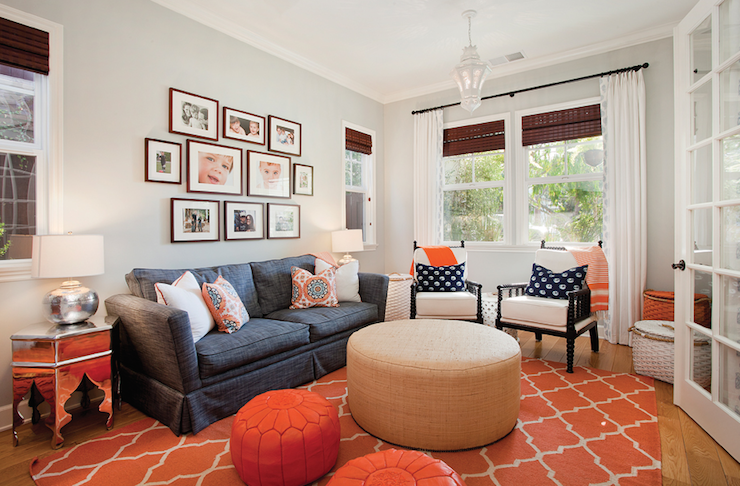 orange rugs for living room contemporary - living room BBUKCRJ