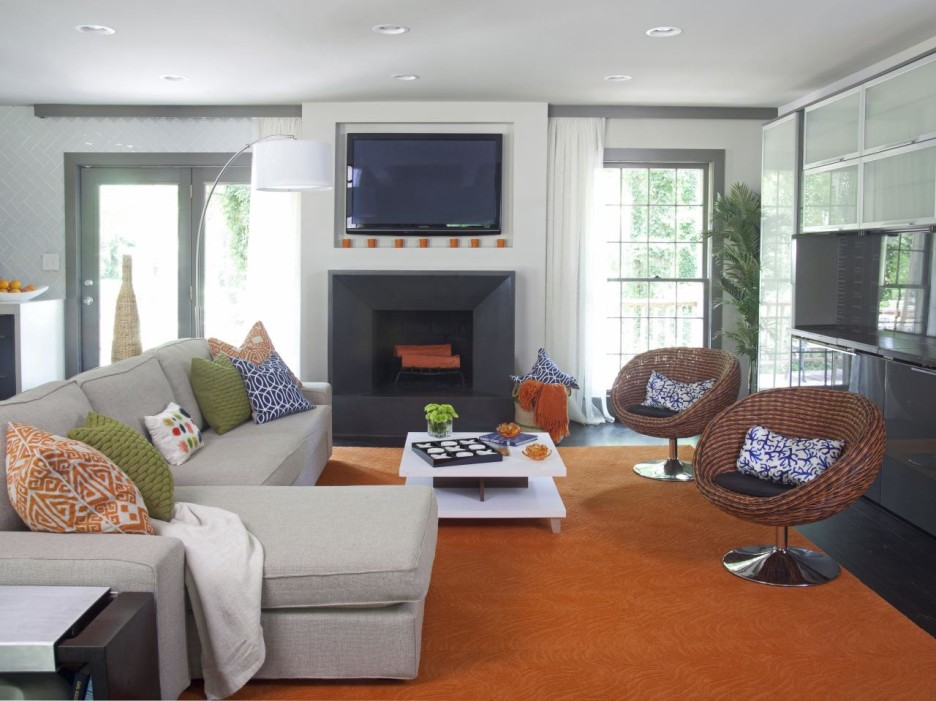 orange rugs for living room effective but simple living room makeover ideas : astounding living room ZLVVGUM