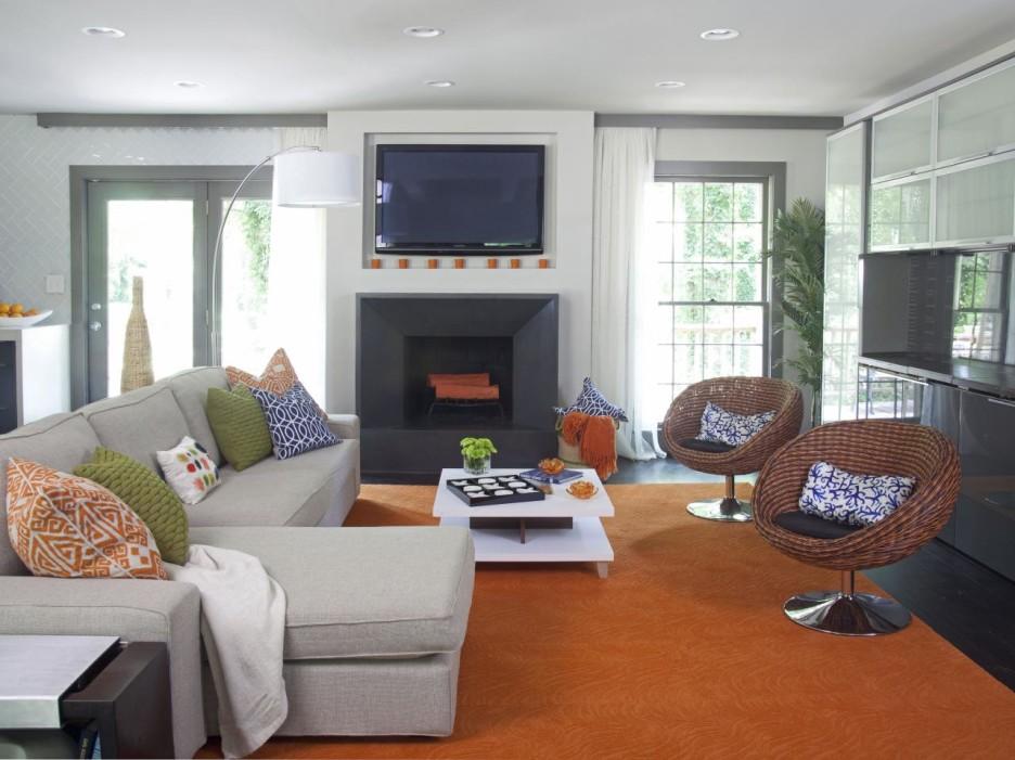 orange rugs for living room effective but simple living room makeover ideas : astounding living room ZLVVGUM