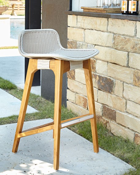 outdoor bar stools palecek vista outdoor barstool HHDQOPX