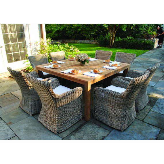 outdoor dining table wainscott square outdoor dining tables VUMKTWG