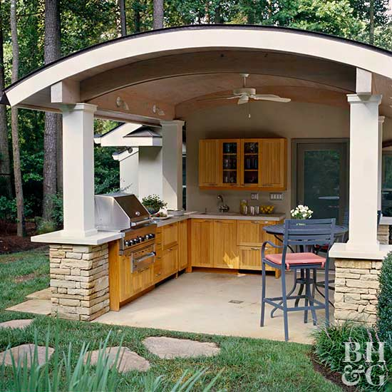 outdoor kitchens in the landscape CPVOFTJ