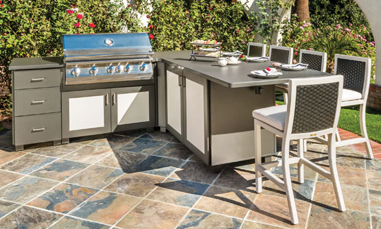 outdoor kitchens modanō: predesigned kitchen islands UXZKQDO