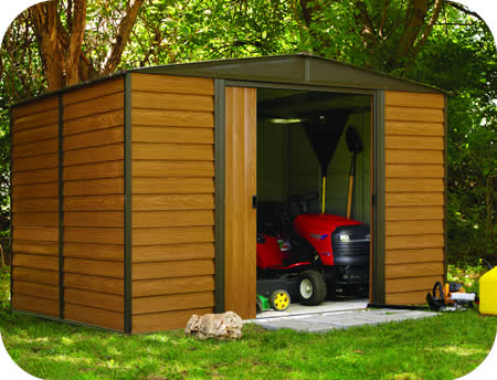 outdoor storage shed arrow 10x6 woodridge metal storage shed kit ELCOJWG