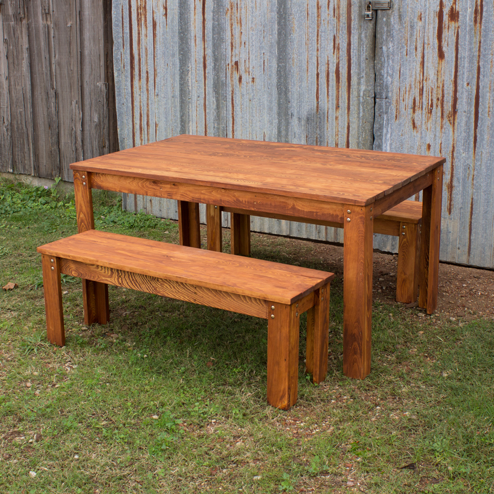 outdoor tables carencro style outdoor table and benches VRENAIT
