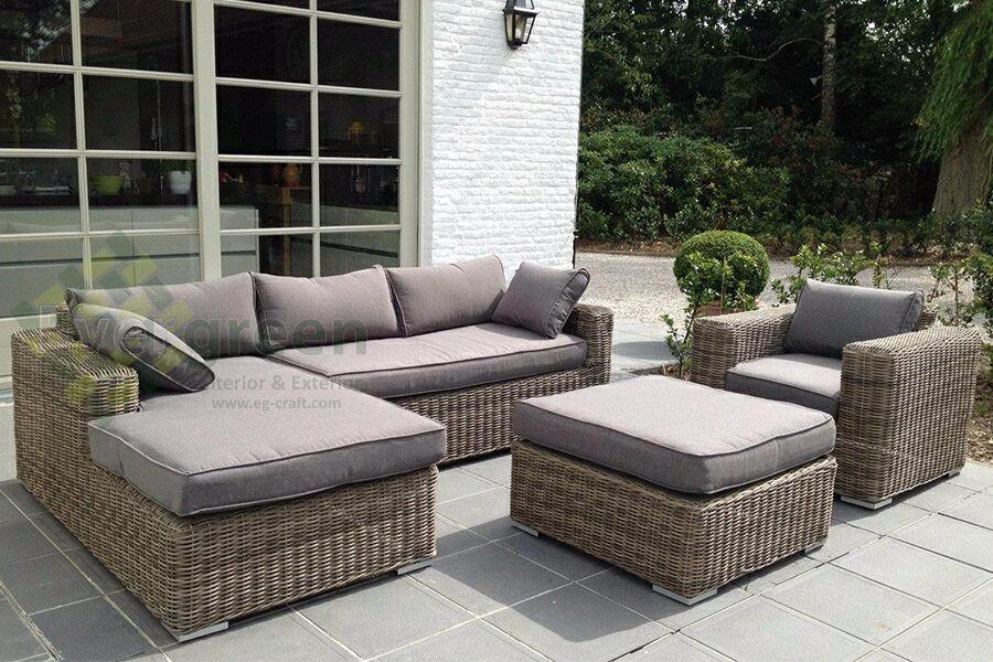 outdoor wicker furniture evergreen wicker furniture - sectional sofa - rattan furniture - patio CBGWSYO
