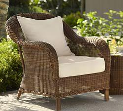 outdoor wicker furniture palmetto all-weather wicker armchair, ... XPONAMT