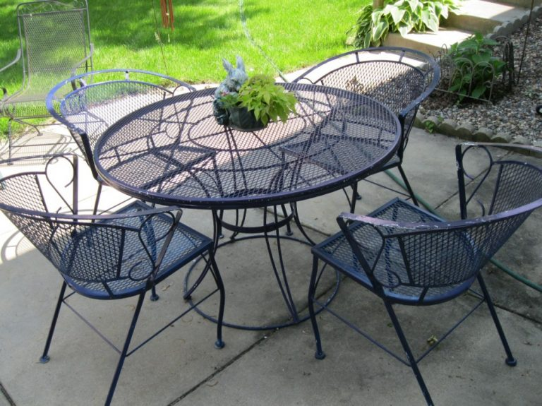 outdoor wrought iron patio furniture vintage EWOTUDC