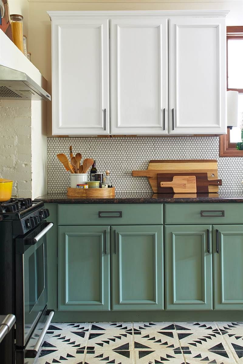painted kitchen cabinets chalk paint kitchen cabinet makeover QYQKOMN