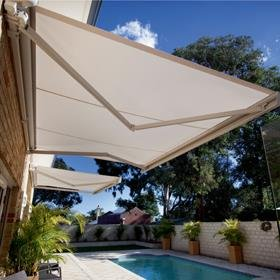 patio awning strong 16u0027w x 11.5u0027d outdoor patio cover yard manual awning retractable GVXWTGG