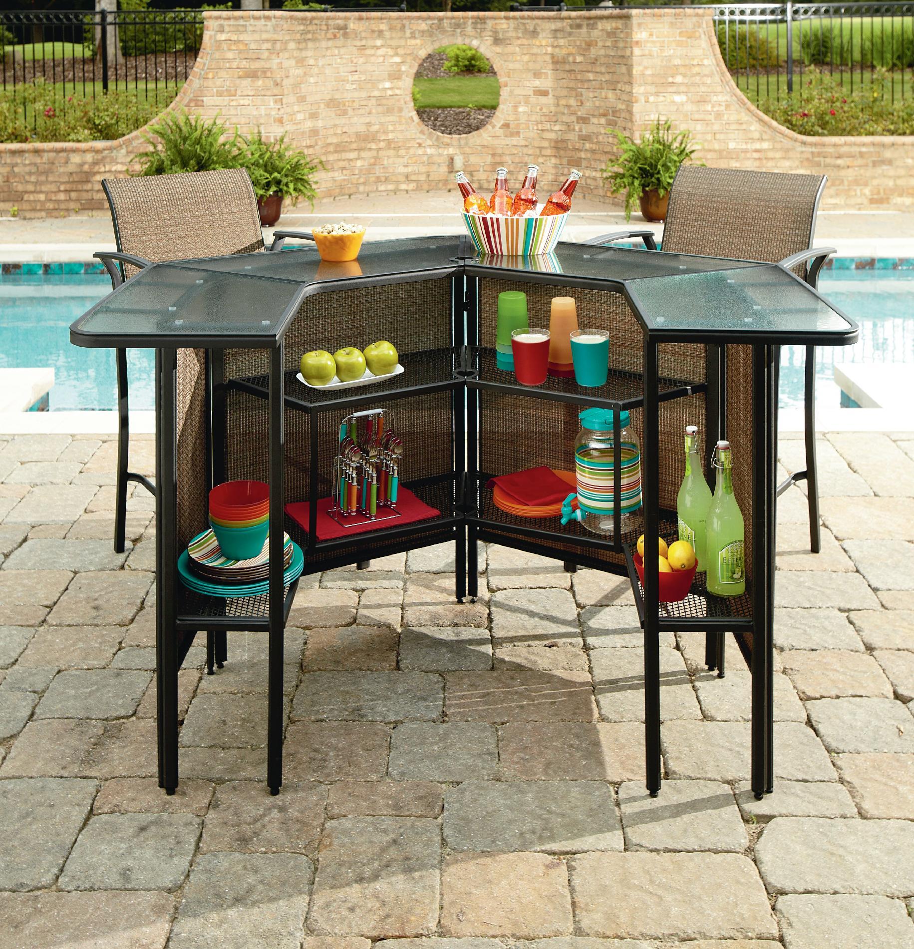 patio bar set best garden oasis harrison 5 piece bar set 2 outdoor bar BWPJLLH