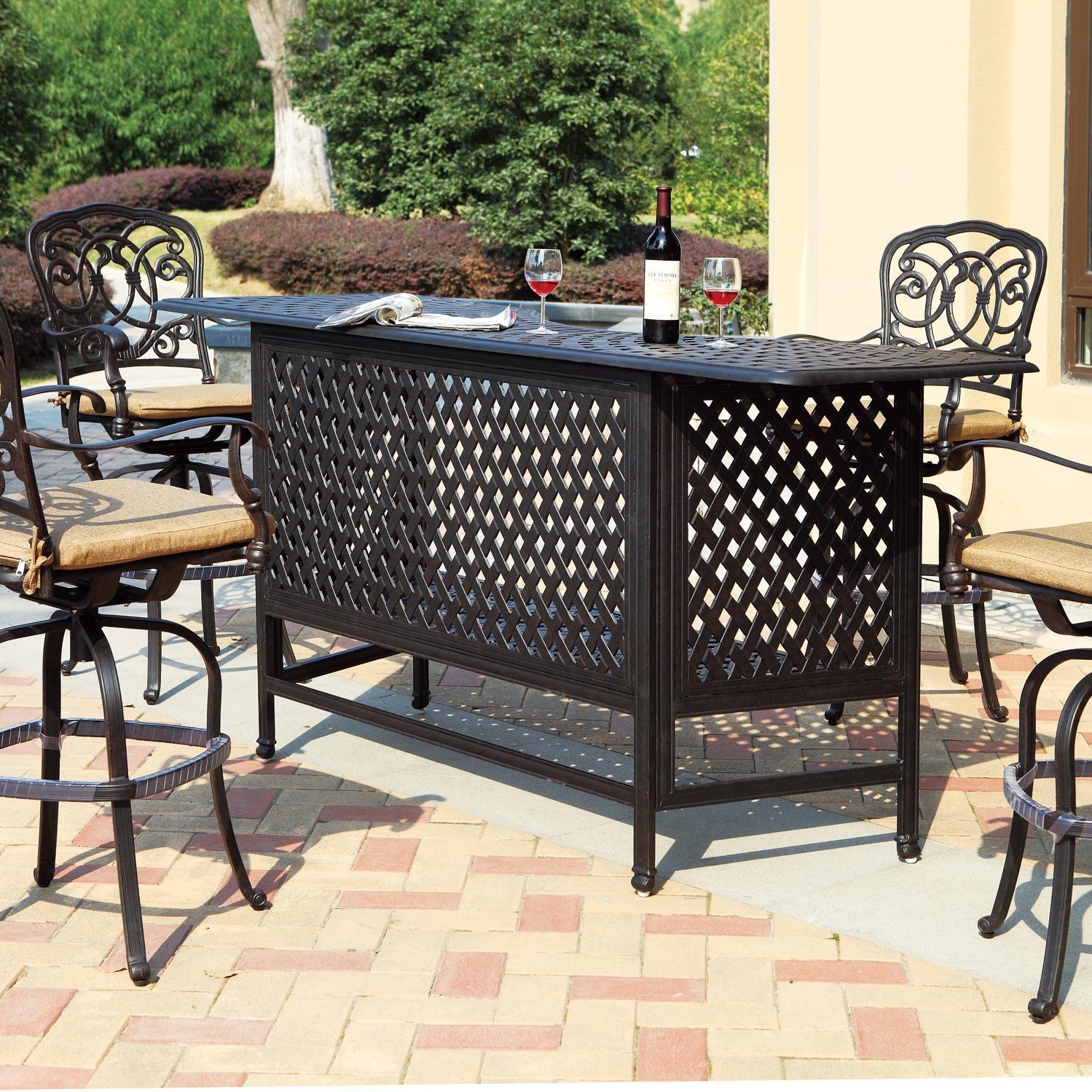patio bar set darlee florence 5 piece cast aluminum patio party bar set with OFFUZMM