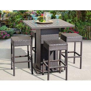 patio bar set napa 5 piece bar height dining set NGTJBEF