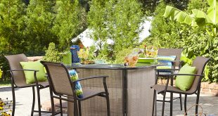 patio bar set outdoor bar set IHDJLUB