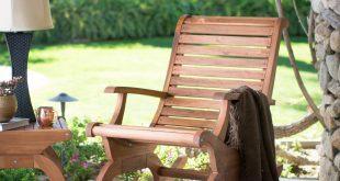 patio chairs belham living avondale oversized outdoor rocking chair - natural   hayneedle GBBSSCG