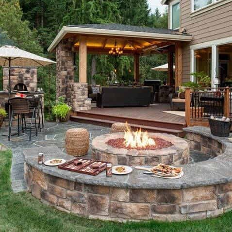 patio design ideas sitting here making smores... oh yeah! backyard patio design idea GEFVXQJ