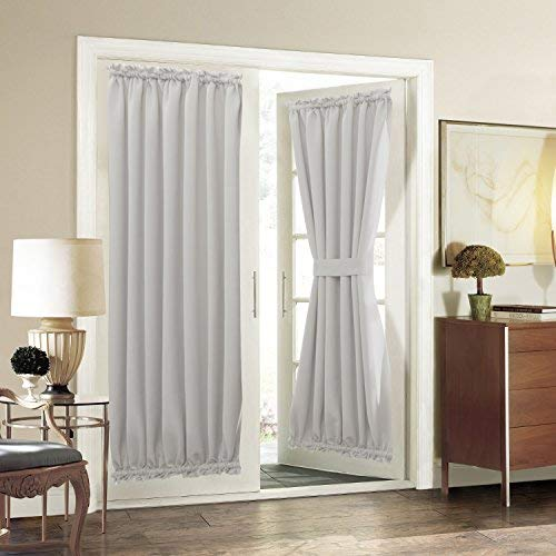 patio door curtains aquazolax patio door curtain panel room darkening blackout curtain drapes HLOCJFU