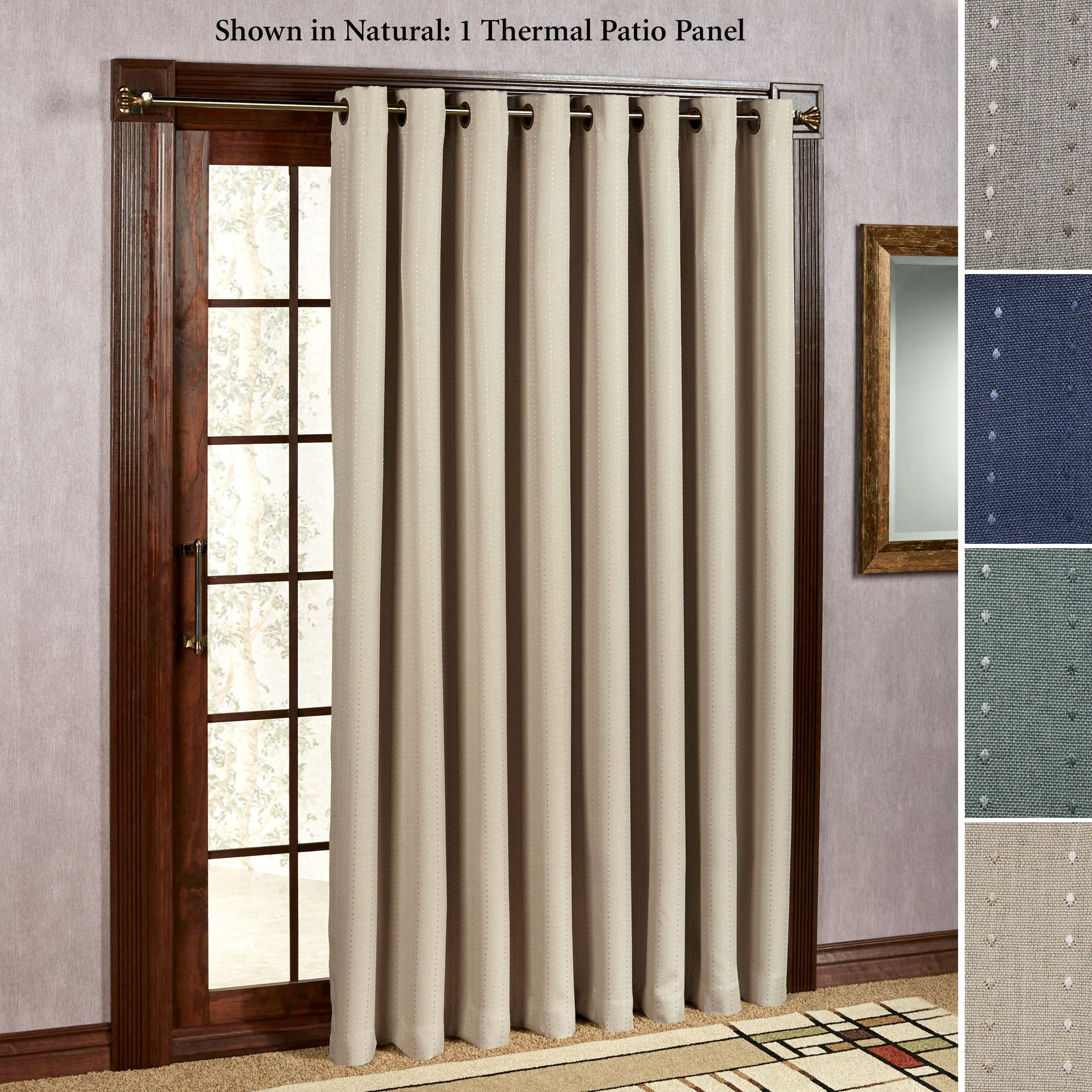 patio door curtains free shipping. grand pointe grommet patio curtain ... NICRUQV