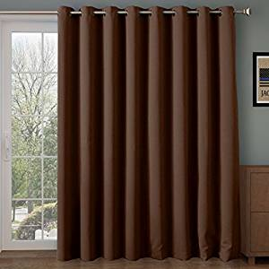 patio door curtains rose home fashion rhf thermal insulated blackout patio door curtain panel, GQARDHU