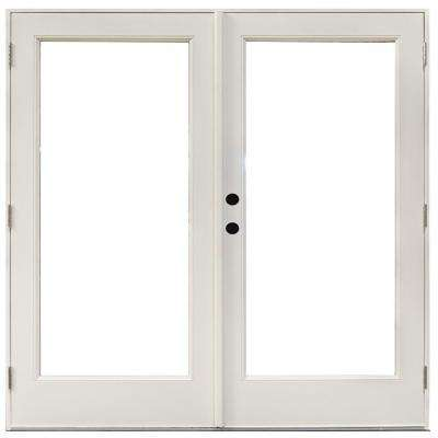 patio doors fiberglass smooth white right-hand outswing hinged patio LETUSSU