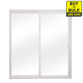 patio doors reliabilt 70.75-in x 79.5-in clear glass universal reversible white vinyl ZZNNDYL