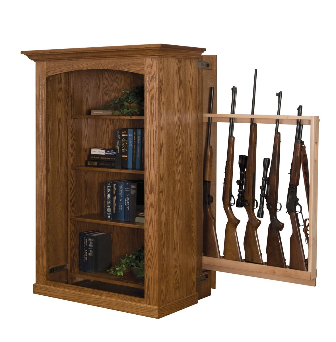 patriot ii - small bookcase with hidden gun cabinet LHDJIQD