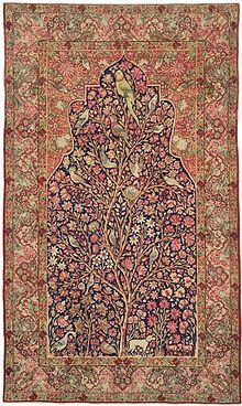 persian carpets kermanshah u0027tree of lifeu0027 carpet, 3rd quarter 19th century MKYPYEE