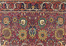 persian carpets safavid kerman u0027vaseu0027 carpet fragment, southeast persia, early 17th century PNXBNCB