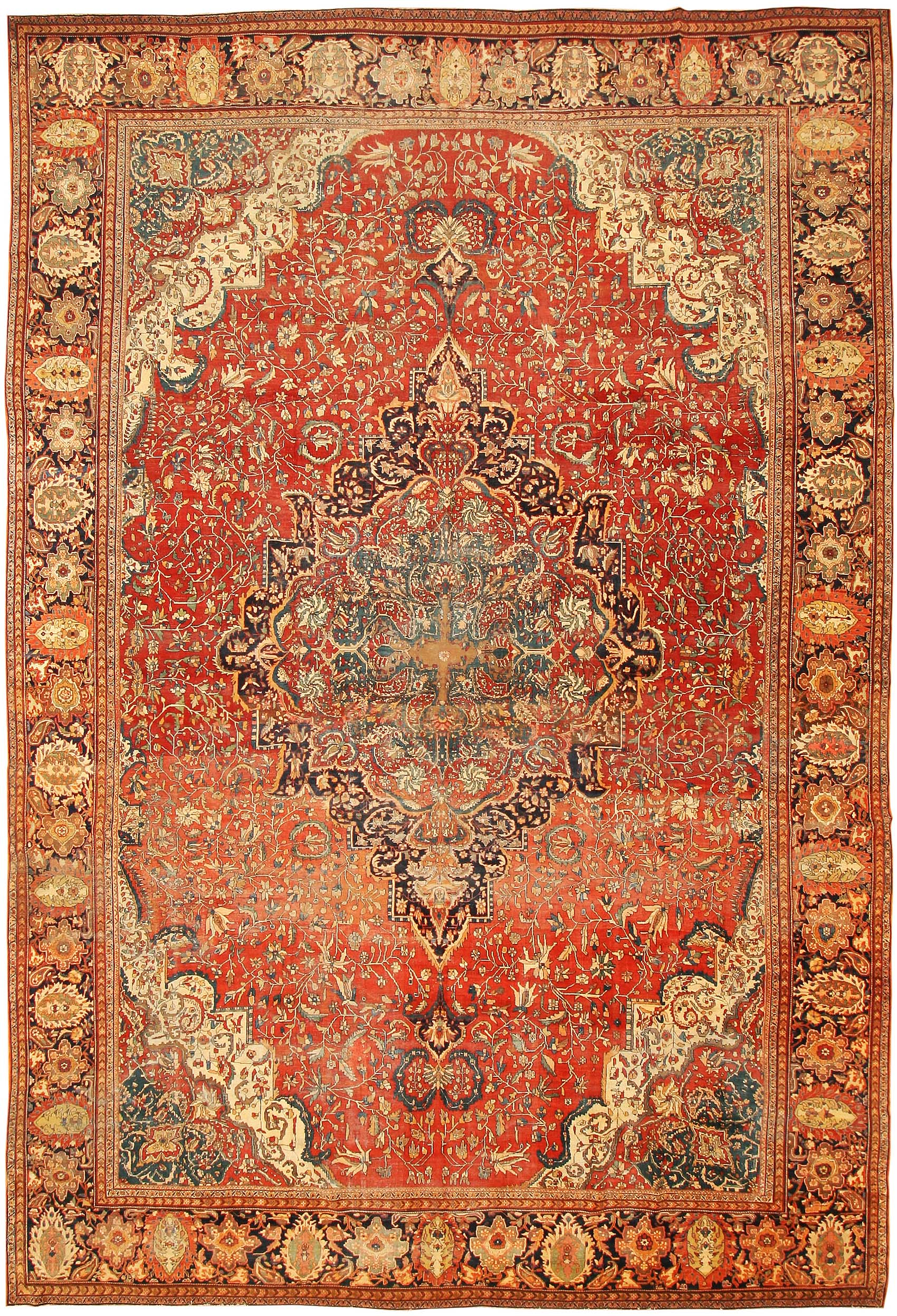 persian rugs antique sarouk farahan persian rug 43328 - nazmiyal collection ZKHTNQS