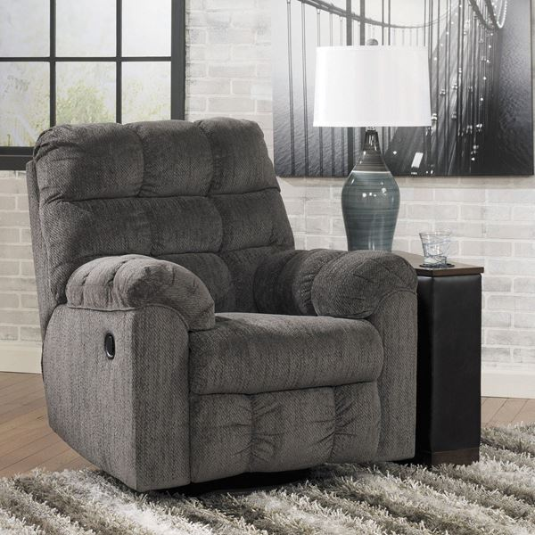 picture of slate swivel rocker recliner OHDXECL