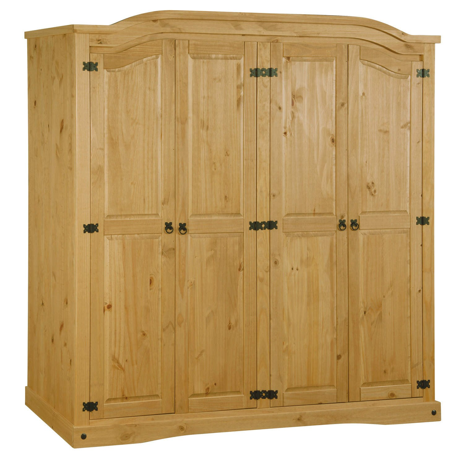 pine wardrobes corona mexican 4 door wardrobe in solid pine WKIZCIU