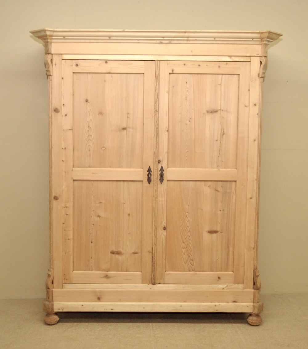 pine wardrobes large antique pine double wardrobe tfmuicg SUOWHFB