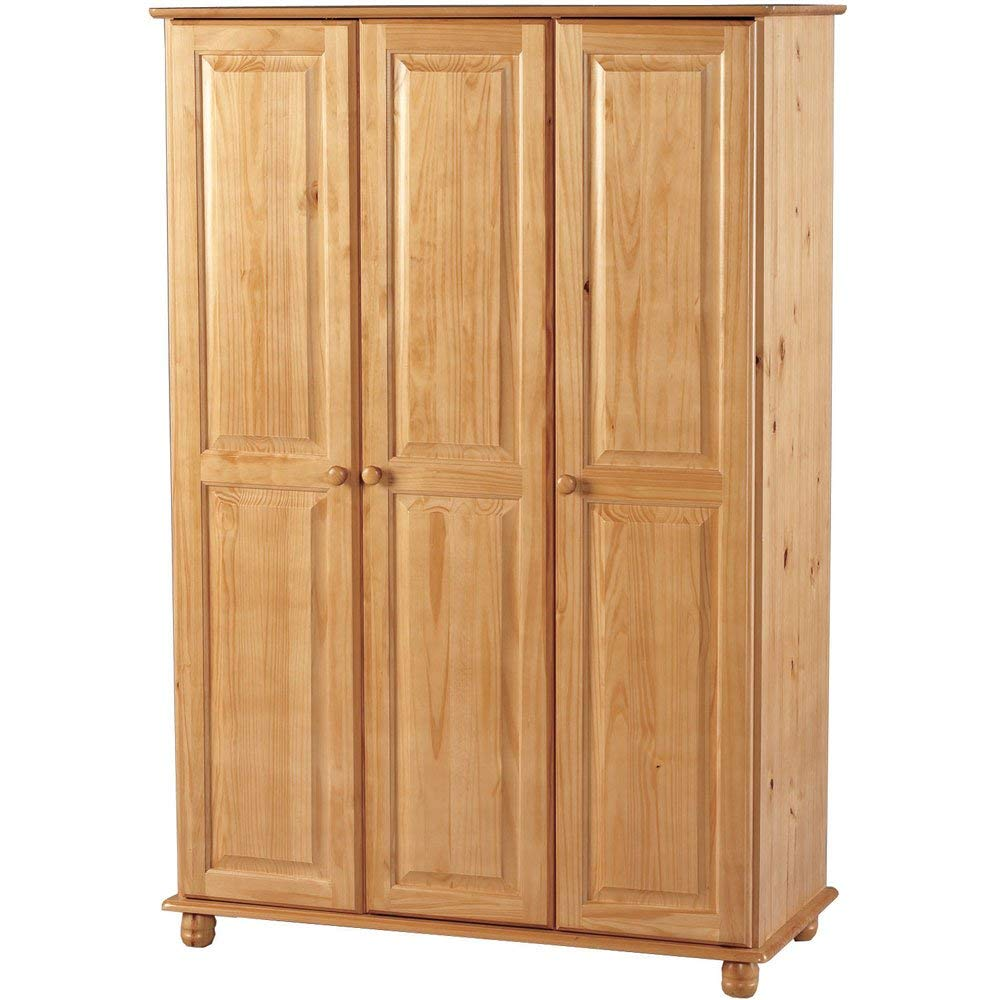 pine wardrobes seconique sol 3 door wardrobe: amazon.co.uk: kitchen u0026 home QIVNAFC
