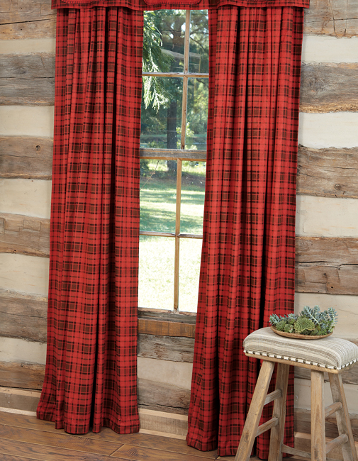 plaid curtains red plaid drapes JIFVNJO
