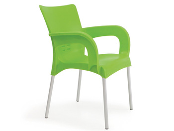 plastic garden chairs strong plastic garden chair with aluminium legs JVUDLPO