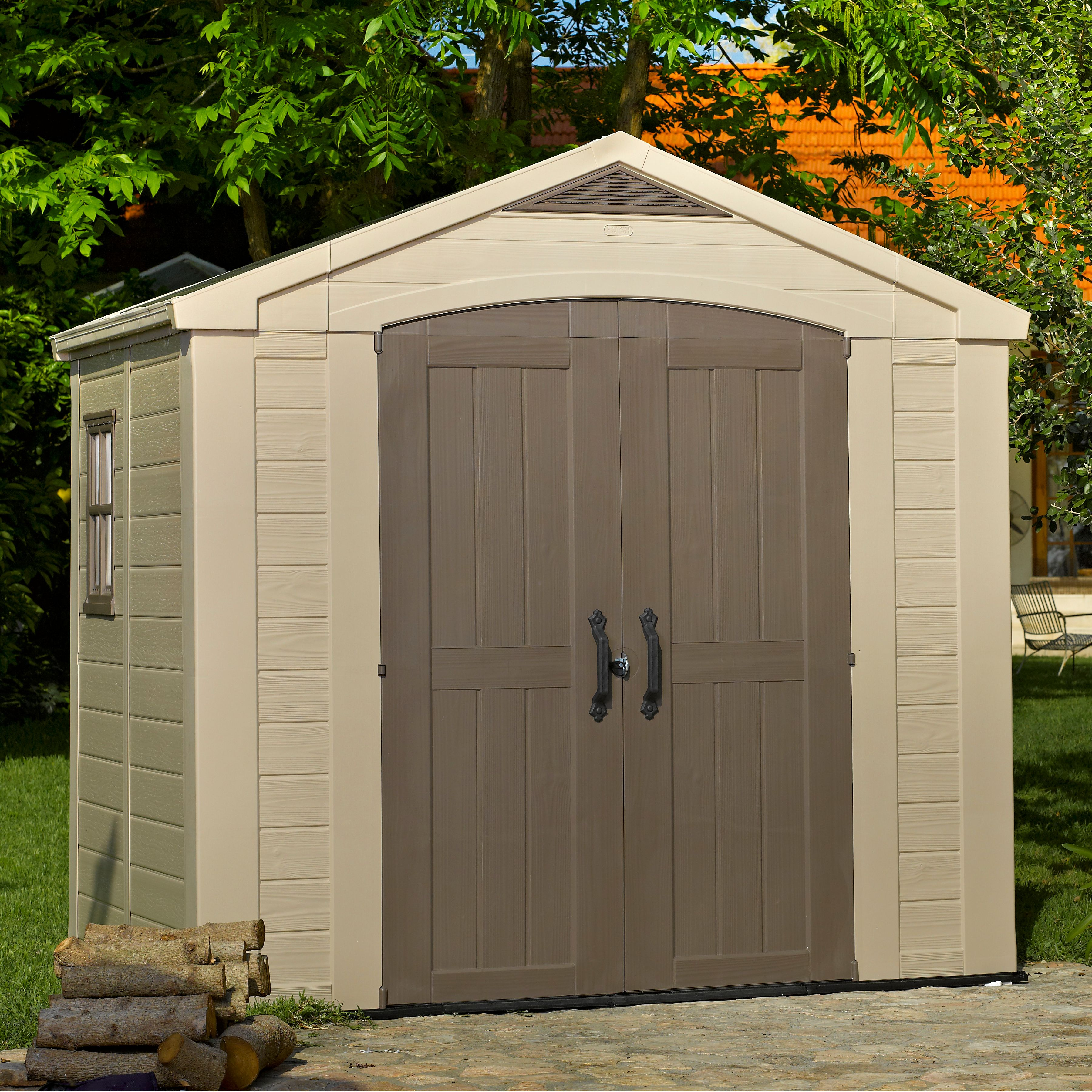 plastic sheds 8x6 factor apex plastic shed | departments | diy at bu0026q ZETEGTS