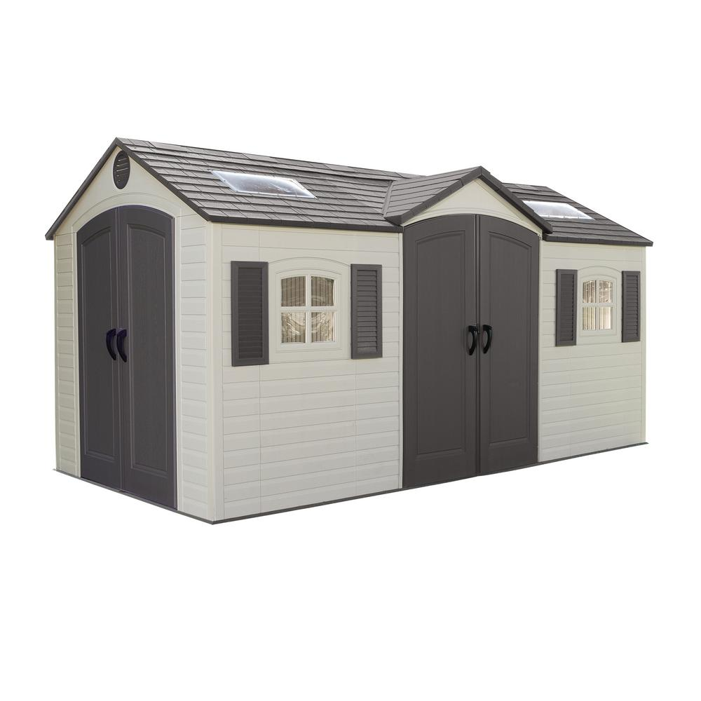 plastic sheds double door storage plastic shed DUZVOKX