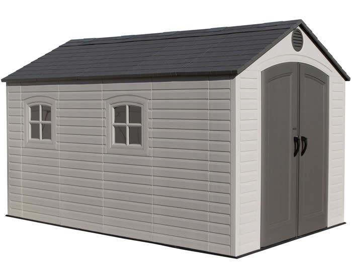 plastic sheds lifetime 8x12 outdoor storage shed kit w/ floor UIDFBYU