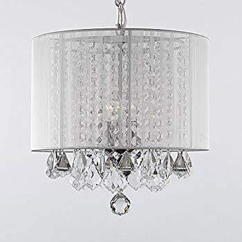 plug in chandelier crystal chandelier chandeliers with large white shade! h15 IBJVYBF